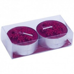 SET DE 2 VELAS CHRISTMAS ROJO