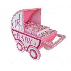 Expositor carro baby rosa (Solo expositor)