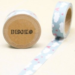 CINTA ADHESIVA WASHI TAPE 15 MM X 10 METROS DS-115